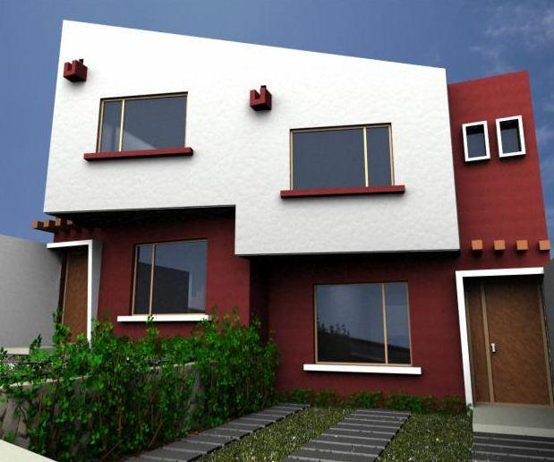 Casa pintada por fuera de dos colores