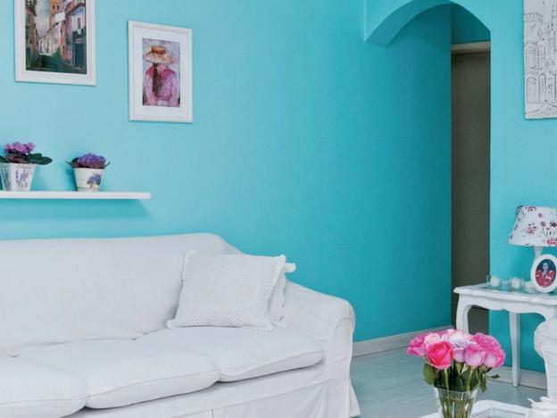 habitacion color turquesa