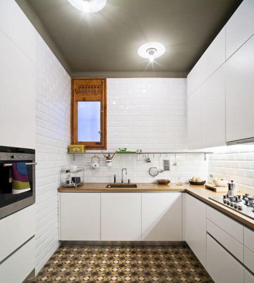 techo de cocina pintado