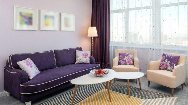 colores morado para salas modernas
