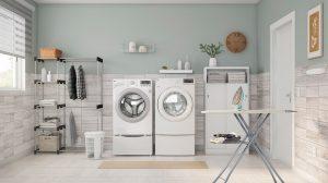 cuarto de lavado con armario