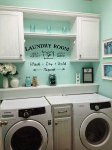 cuarto de lavado vintage color verde menta