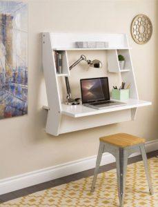 escritorio plegable blanco