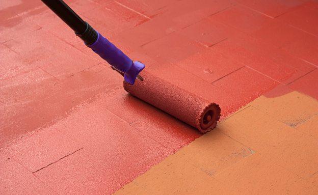rodillo e impermeabilización interior y exterior
