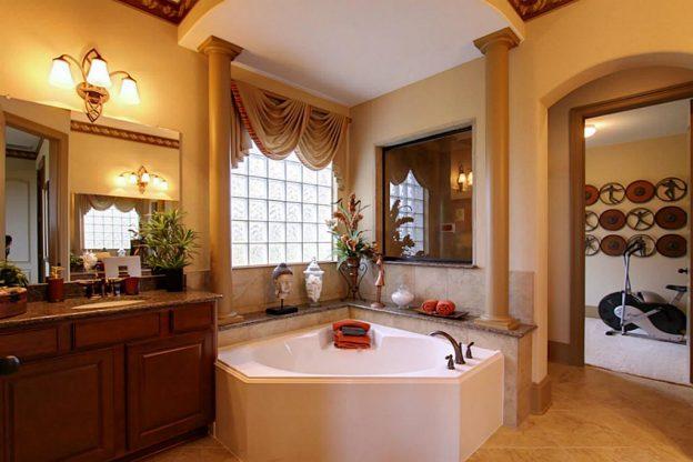 baño elegante con jacuzzi
