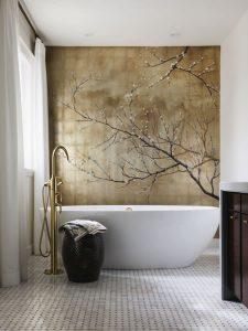 baños con detalles en latón