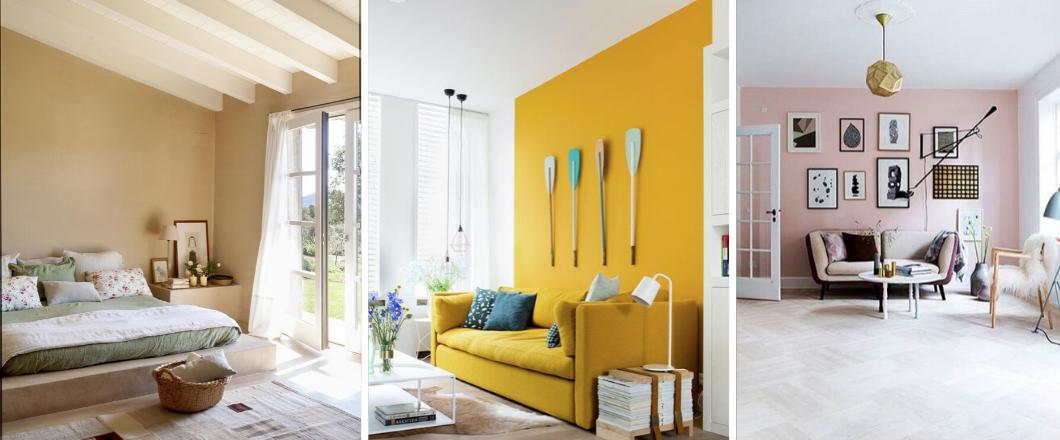 habitaciones con diferente color de pintura
