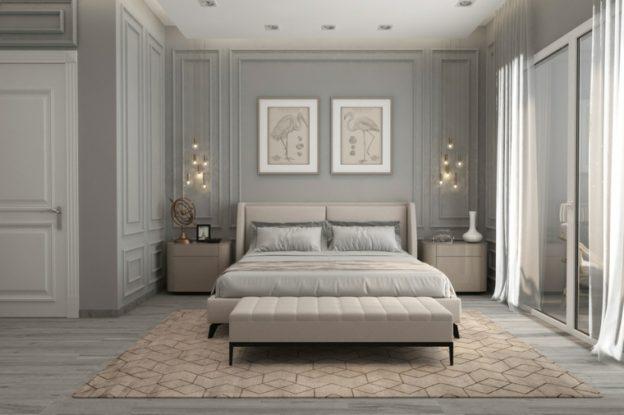 dormitorio gris neutro