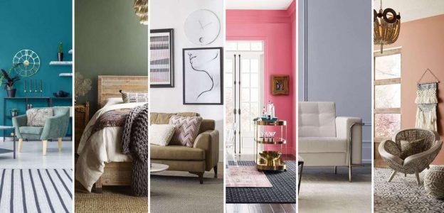 seis habitaciones con color de pintura diferente