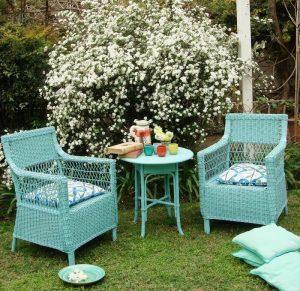 sillas de jardín pintadas